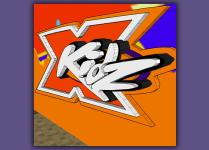 XKidz, church logo, 3d logo, 3d kids logo