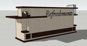 information booth, information center, Church welcome booth, church welcome center furniture, church welcome center design, church welcome desk