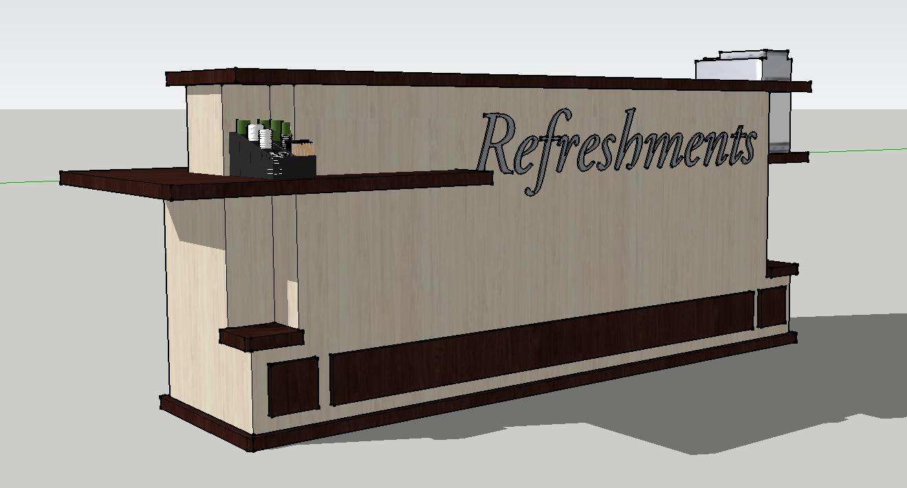10 Church Rolling Coffee Bar Refreshment Center