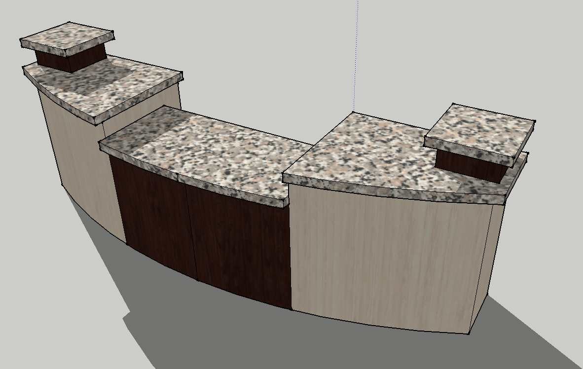 Information Desk Design 10' church information desk - 3 level with leg room - envisionary