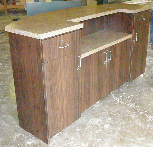 8 Foot X 30 Inch X 42 Inch Rolling Welcome Reception Desk