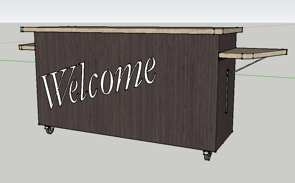 6 Foot Portable Welcome Desk Envisionary Images