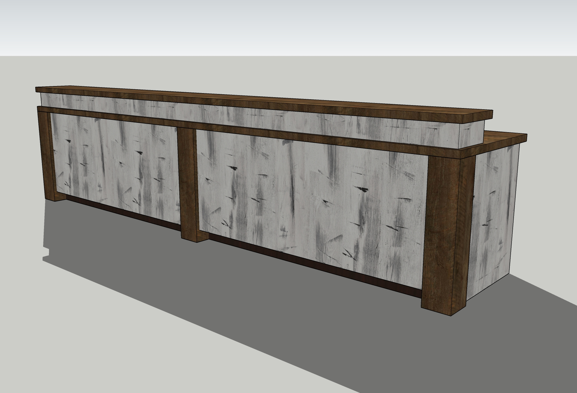 12 Foot Hotel Style Welcome Desk Envisionary Images