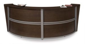 Double 121.25 Inch x 48.5 Inch Welcome Desk