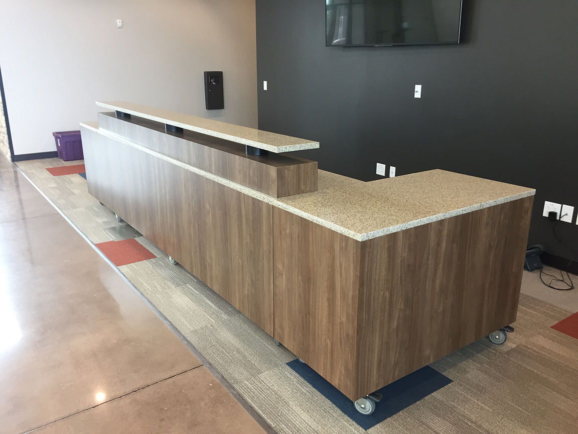 church welcome desk, church welcome center, church kiosk, church reception, welcome center furniture, reception desk, modern reception desk.